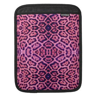 Capa De iPad Pele de Jaguar no rosa e no roxo