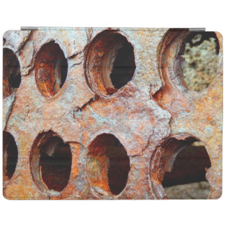 Capa de ipad perfurada oxidada do metal
