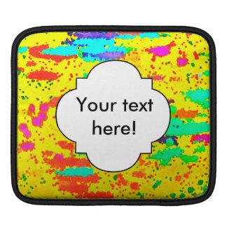 Capa De iPad Pinte espirra em um fundo amarelo