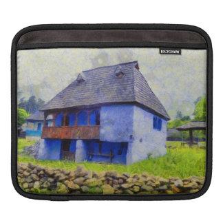 Capa De iPad Pintura de casa azul