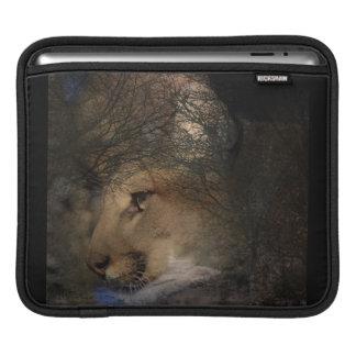 Capa De iPad Puma selvagem do leão de montanha da silhueta da