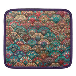 Capa De iPad Retalhos do vintage com elementos florais da