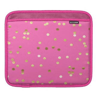 Capa De iPad Rosa quente dos confetes na moda da folha de ouro