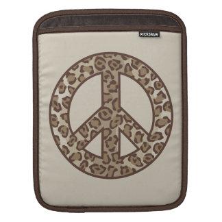 Capa De iPad Símbolo de paz do leopardo