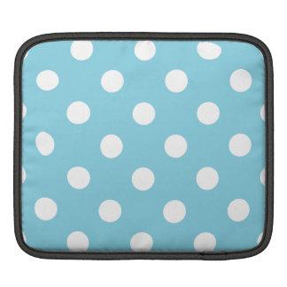 Capa De iPad Teste padrão de bolinhas azul e branco