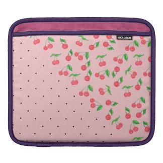 Capa De iPad teste padrão de bolinhas bonito do preto da cereja