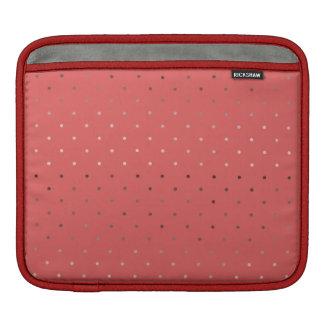 Capa De iPad teste padrão de bolinhas coral do ouro cor-de-rosa