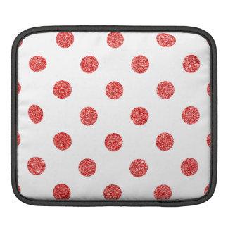 Capa De iPad Teste padrão de bolinhas vermelho elegante do