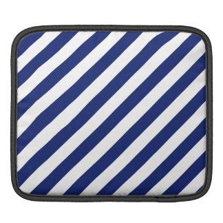Capa De iPad Teste padrão diagonal do azul marinho e o branco
