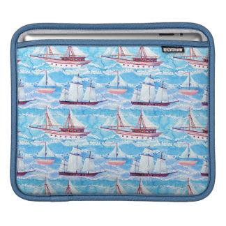 Capa De iPad Teste padrão dos navios de navigação da aguarela