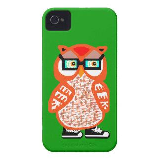 Capa de iphone 4 alaranjado engraçado do verde da capa para iPhone 4 Case-Mate