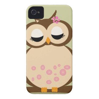 Capa de iphone 4 bonitos da coruja da mãe capas para iPhone 4 Case-Mate