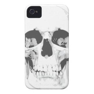 Capa de iphone 4 branco do crânio da morte capa para iPhone