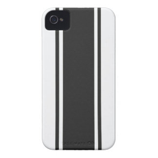 Capa de iphone 4 branco & preto da fibra do capa para iPhone