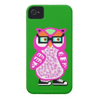 Capa de iphone 4 cor-de-rosa engraçado do verde da capas para iPhone 4 Case-Mate