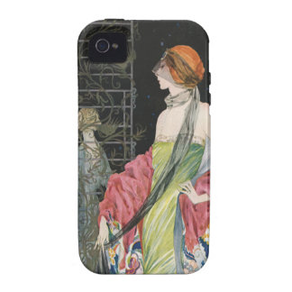 Capa de iphone 4 da ilustração da forma do vintage capa para iPhone 4/4S