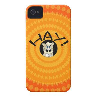 Capa de iphone 4 da laranja do cavalo do feno capinhas iPhone 4