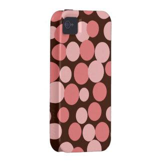 Capa de iphone 4 de salto cor-de-rosa dos pontos capas para iPhone 4/4S