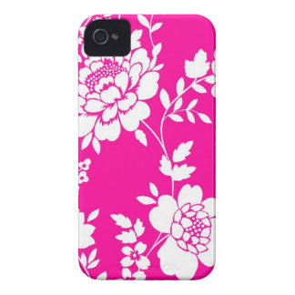 Capa de iphone 4 do design da flor cor-de-rosa e capinhas iPhone 4
