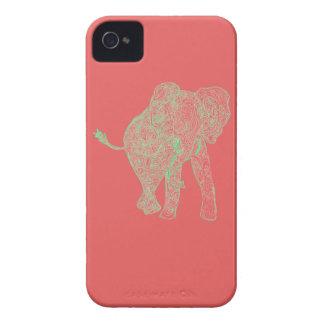 Capa de iphone 4 do elefante do limão/pêssego