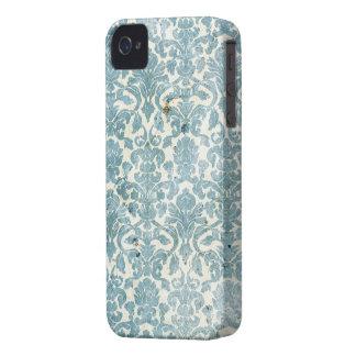 Capa de iphone 4 do Grunge do damasco do azul de Capa Para iPhone