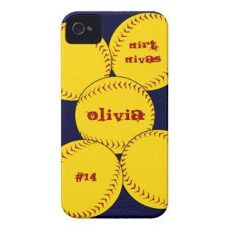Capa de iphone 4 do softball de Fastpitch Capinha iPhone 4