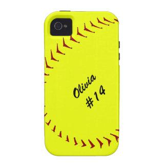 Capa de iphone 4 do softball de Fastpitch Capinhas iPhone 4/4S