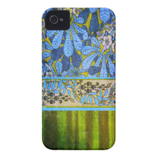 Capa de iphone 4 do sonho do verde azul do vintage capa para iPhone 4 Case-Mate