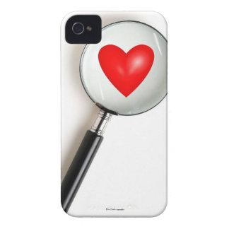 Capa de iphone 4 engraçado ampliado do coração