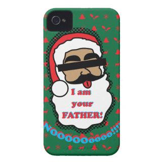 Capa de iphone 4 engraçado de Papai Noel Capinhas iPhone 4