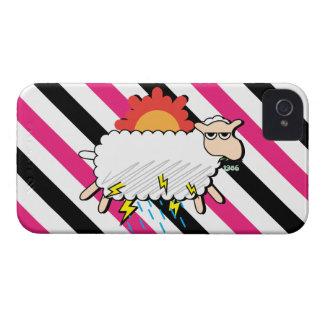 Capa de iphone 4 engraçado dos carneiros nebulosos capinha iPhone 4