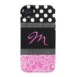 Capa de iphone 4 feminino à moda do monograma capinhas para iPhone 4/4S