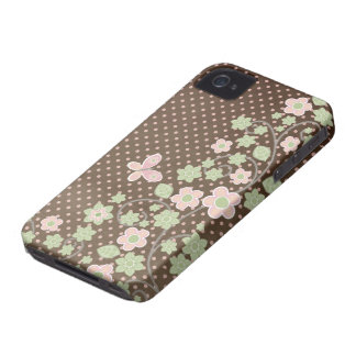 Capa de iphone 4 floral cor-de-rosa do na moda do