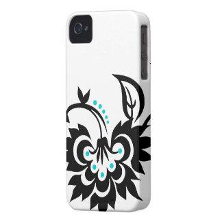 Capa de iphone 4 floral do design do tatuagem