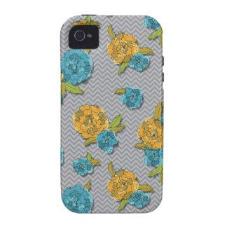 Capa de iphone 4 floral e de Chevron Capinhas Para iPhone 4/4S