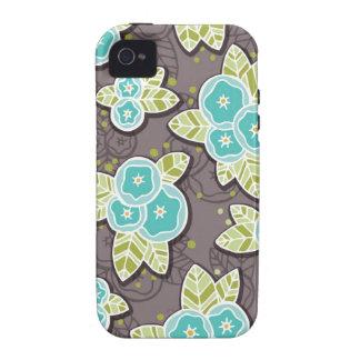 Capa de iphone 4 floral lunático capa para iPhone 4/4S