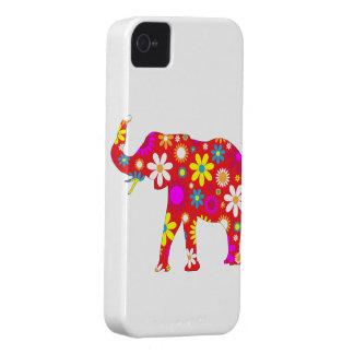 Capa de iphone 4 floral retro funky do elefante capa para iPhone