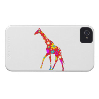Capa de iphone 4 floral retro funky do girafa mal capinha iPhone 4