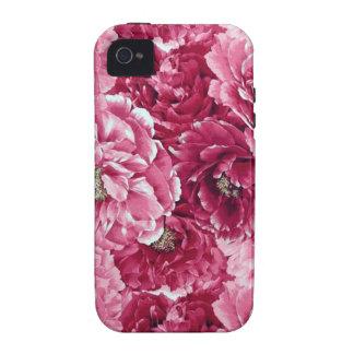 Capa de iphone 4 floral roxo cor-de-rosa da capas para iPhone 4/4S
