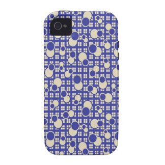 Capa de iphone 4 gráfico azul do vintage capinhas iPhone 4/4S