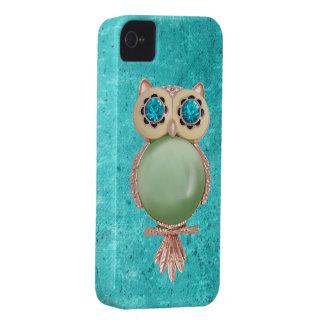 Capa de iphone 4 lunático da jóia da coruja do capinha iPhone 4
