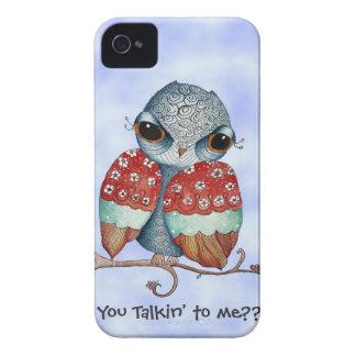 Capa de iphone 4 mal-humorado lunático da coruja capinhas iPhone 4