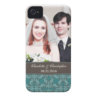 Capa de iphone 4 personalizado da noiva & do noivo