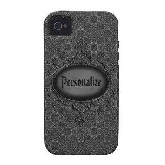 Capa de iphone 4 personalizado do vintage damasco capinhas iPhone 4/4S