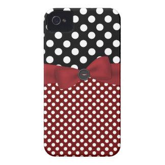 Capa de iphone 4 preto, branco, & vermelho das capinha iPhone 4
