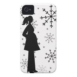 Capa de iphone 4 preto e branco da gravidez do capas para iPhone 4 Case-Mate