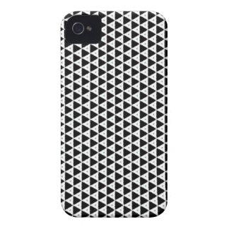 Capa de iphone 4 preto e branco do teste padrão do capas para iPhone 4 Case-Mate