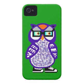 Capa de iphone 4 roxo engraçado do verde da coruja capa para iPhone