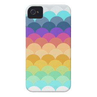 Capa de iphone 4 Scalloped colorido Capa Para iPhone