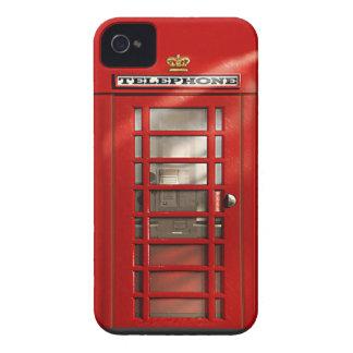 Capa de iphone 4 vermelho britânico clássico da